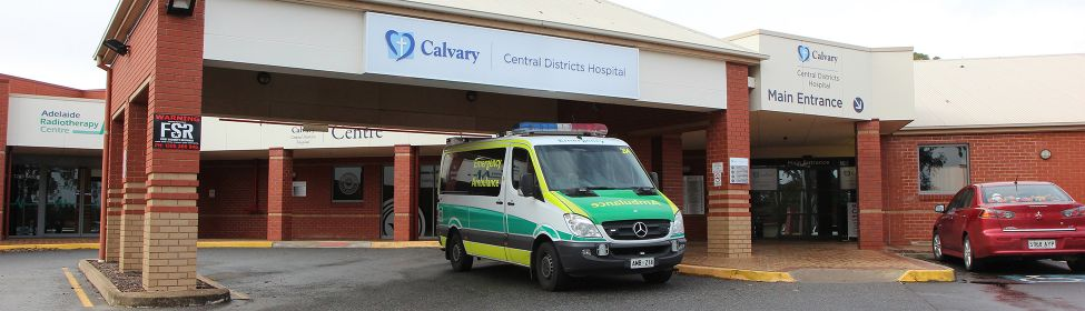 Front entrance of Calvary Central Districts Private Hospital