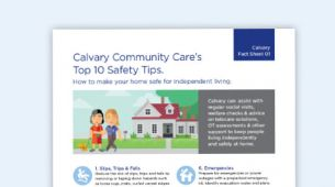 Calvary Fact Sheet 01 - Top 10 Safety Tips