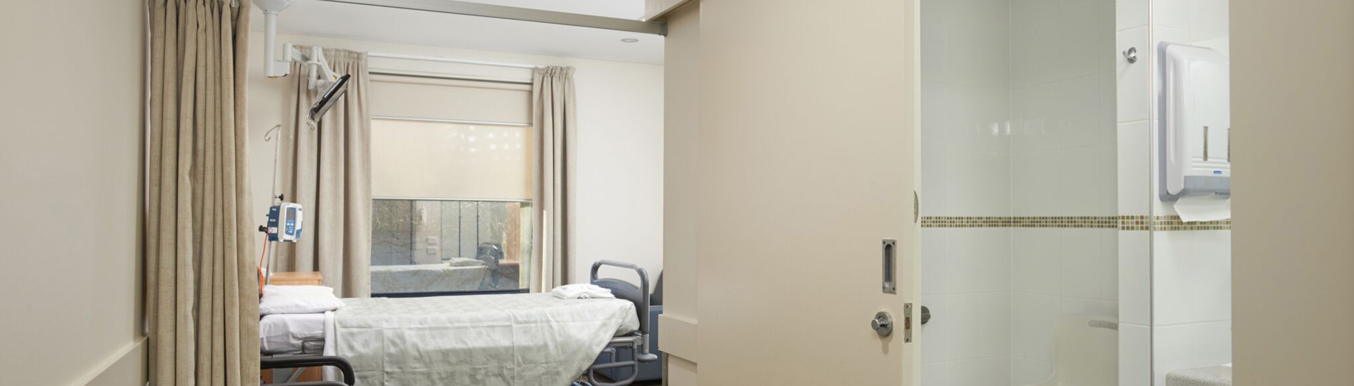 Private hospital room with ensuite
