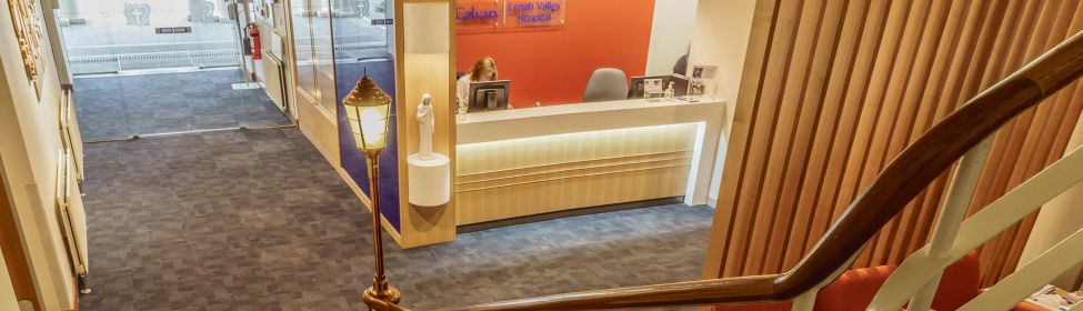 Admission front desk at Lenah Valley