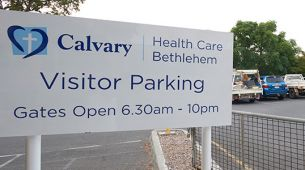 Hospital visitor car park