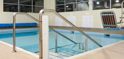 Hydrotherapy pool for rehab patients