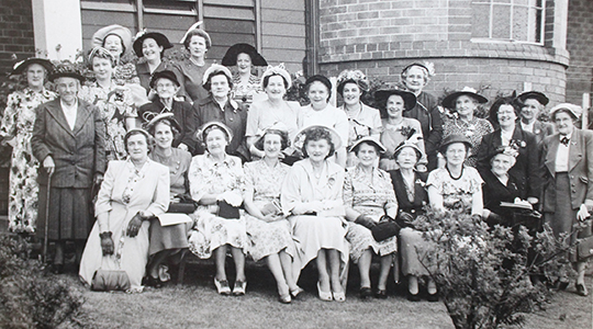 Historic photo of hospital fundraising ladies