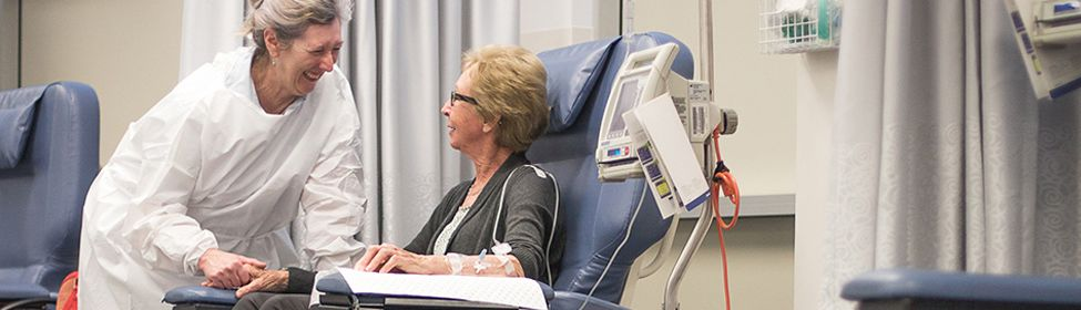 Relaxed atmosphere while receiving chemotherapy treatment