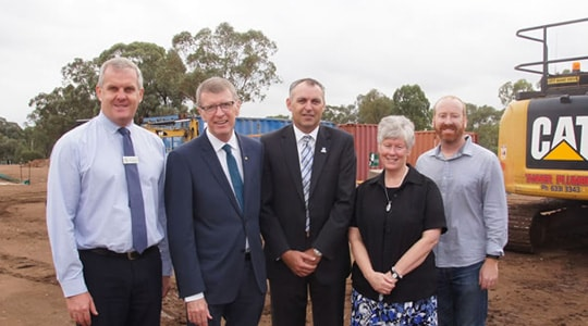 Official site blessing Muswellbrook Retirement Community construction