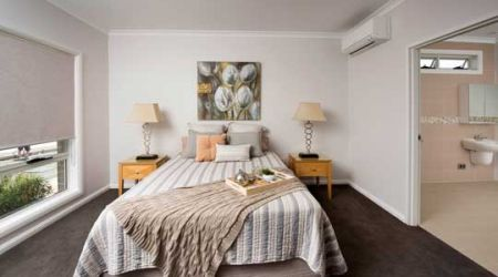 Independent living villa main bedroom with ensuite Calvary Muswellbrook