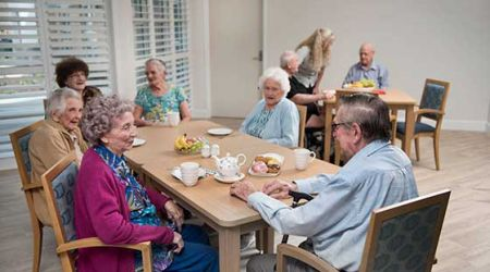 Calvary Muswellbrook residents dining in Brentwood House