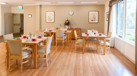 Aged care Canberra dining room