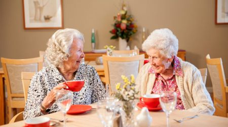 Aged Care Residents enjoying tea