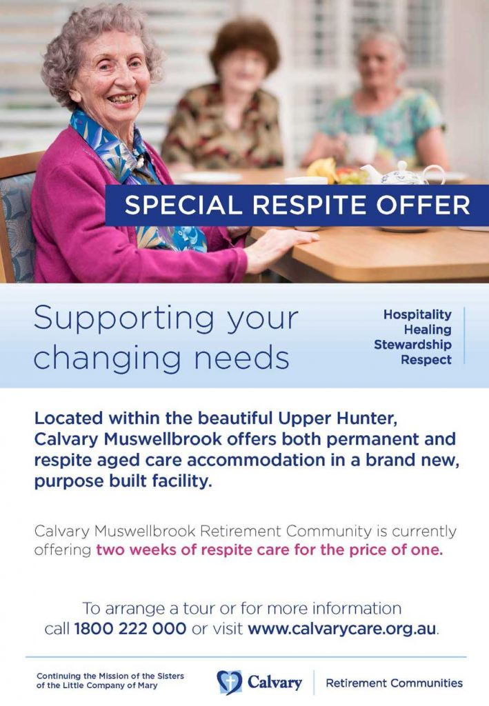 Calvary Muswellbrook Two for One Respite offer