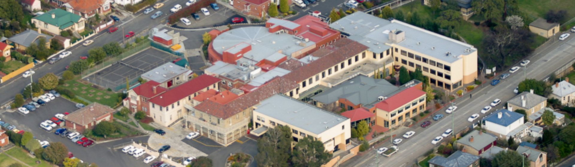 Aerial view of St John's Hospital