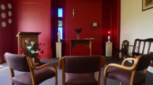 Quiet reflection in multi-faith chapel