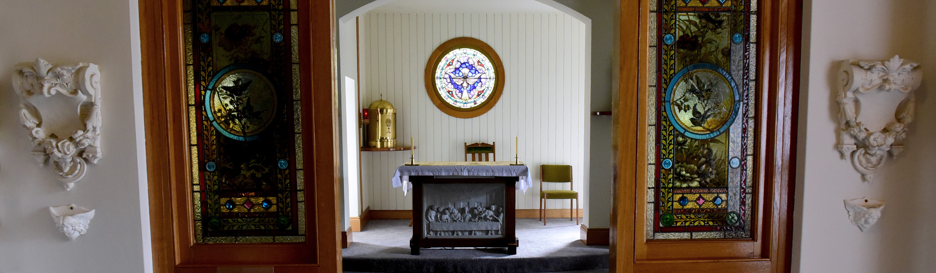 Multi-faith catholic chapel for quiet reflection