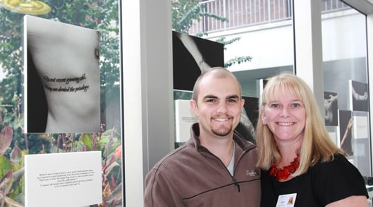 Cancer survivor tattoo photo exhibition