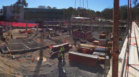 May 2016 - Zone 1 Ground Floor: Suspended slab in progress