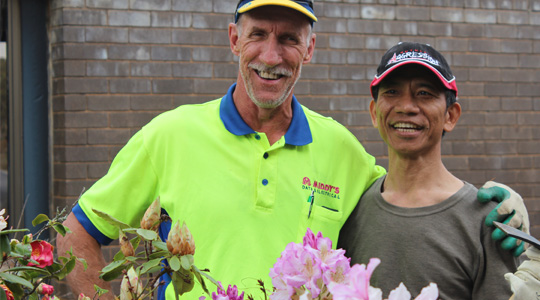 Calvary gardener and refugee program